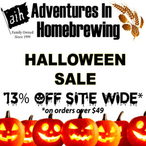 Adventures in Homebrewing Halloween Promotion