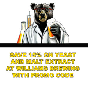 Save 15% On Dry Yeast and Malt Extract at Williams Brewing with WilliamsBrewing.com Promo Code