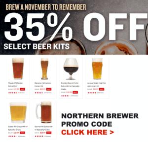 Northern Brewer Homebrewing Promo Code November Coupon