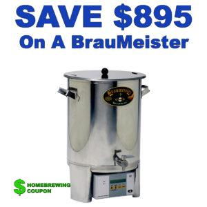 BrauMeister Promo Code - Save $895 On A Used BrauMeister Electric Home Brewing System