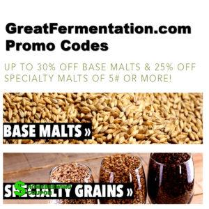 Save Up To 30% On Grains At GreatFermentations.com With Coupon Code