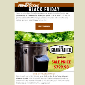 GreatFermentations.com Black Friday Promo Code