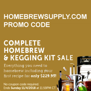 HomebrewSupply Promo Code Complete Homebrewing Kit