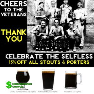 Love2Brew.com promo code for November 15% off stouts and porters
