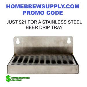 Stainless Steel Draft Beer Drip Tray Promo Code HomebrewSupply