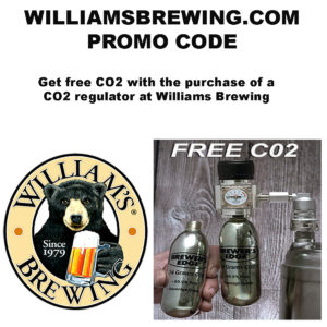 WilliamsBrewing.com Promo Code. Get Free CO2 With A Mini Regulator Purchase.