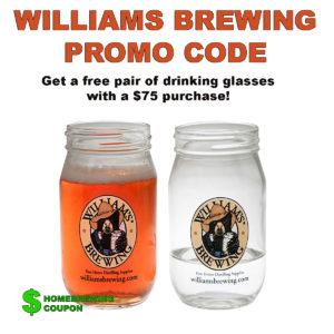 WilliamsBrewing.com Promo Codes For Free Beer Glasses