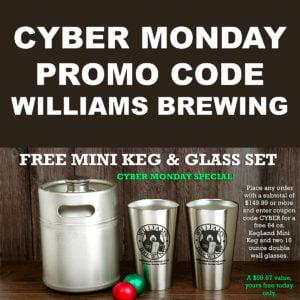 WilliamsBrewing.com Cyber Monday Promo Code