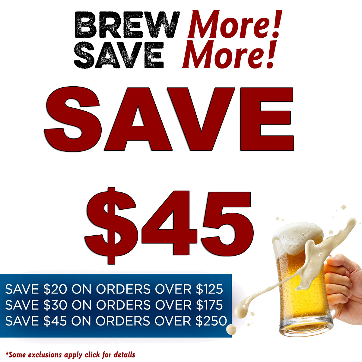 Save up to $45 on Your More Beer Purchase with this MoreBeer.com Coupon Code
